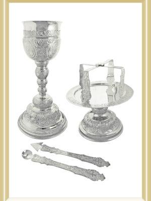 Set Sfinte vase argint masiv