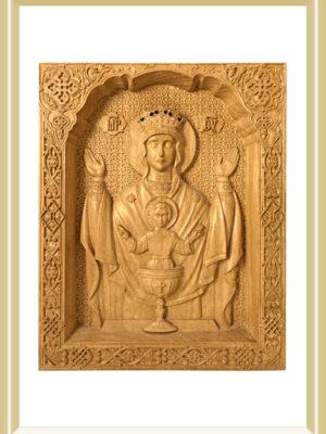 Icoana sculptată - lemn